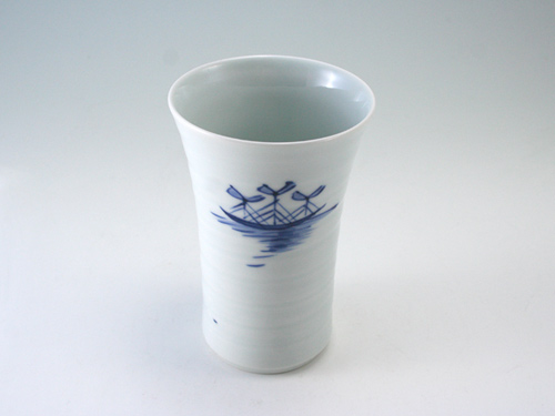 有田焼 青花 紅毛人ゆったりカップ