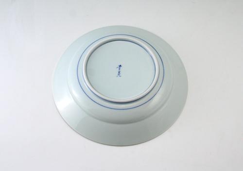 有田焼 青花 芙蓉手甲型7寸皿