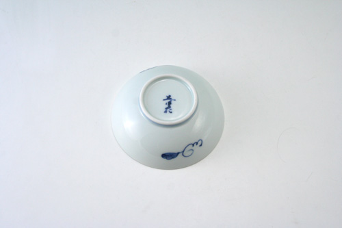 有田焼 青花 ぶどう絵3寸ボール