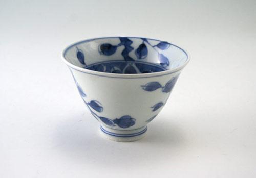 有田焼 青花 山茶花百合型煎茶