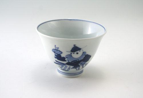 有田焼 青花 オランダ万才百合型煎茶