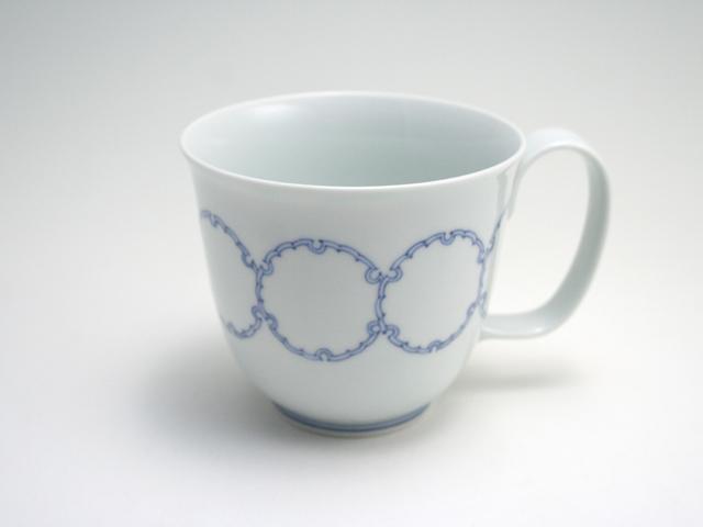 有田焼 青花匠 雪輪つなぎマグカップ