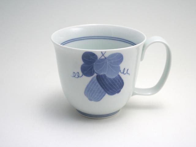有田焼 青花匠×貞山窯 瓜マグカップ